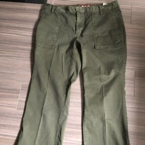 Tommy Hilfiger green crop pants